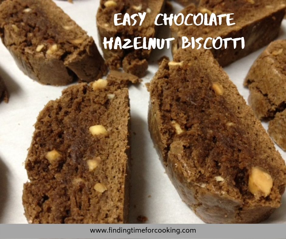 chocolate hazelnut biscotti - Pinterest overlay
