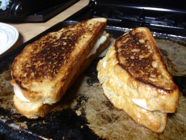 grilled cheese finished