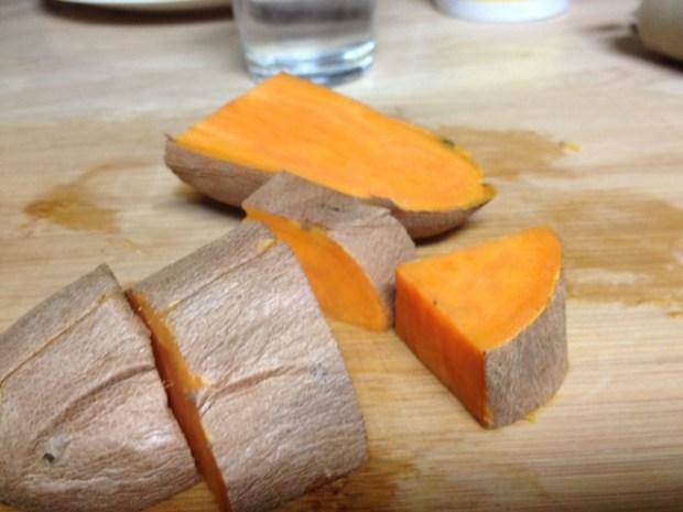 sweet potato soup potatoes chopped