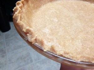 whole wheat pie crust finished closeup
