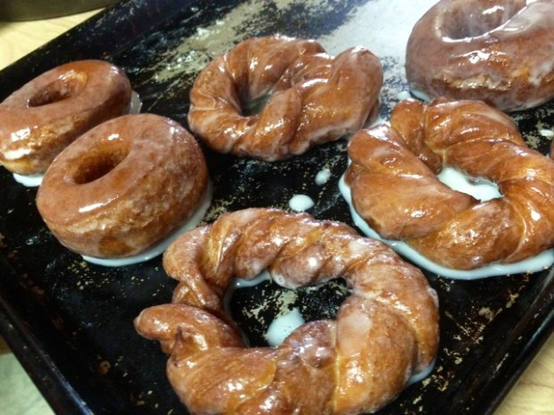 I'm partial to these twist glazed homemade donuts