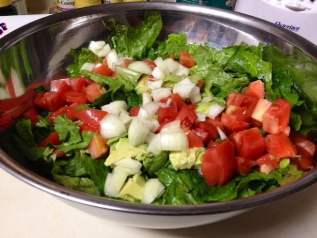 raspberry viniagrette salad