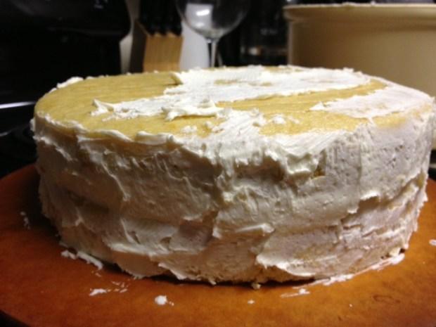 citrus marmalade cake crumb coating