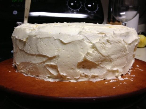 citrus marmalade cake finished