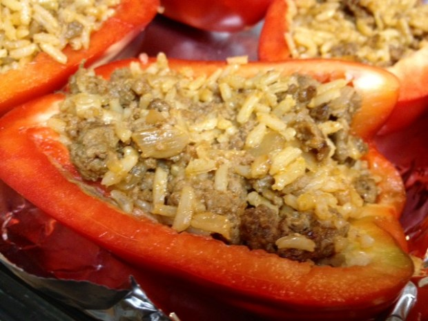 stuffed peppers pepper half full