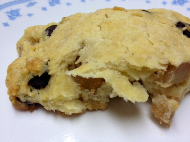 pear brown butter scones finished closeup