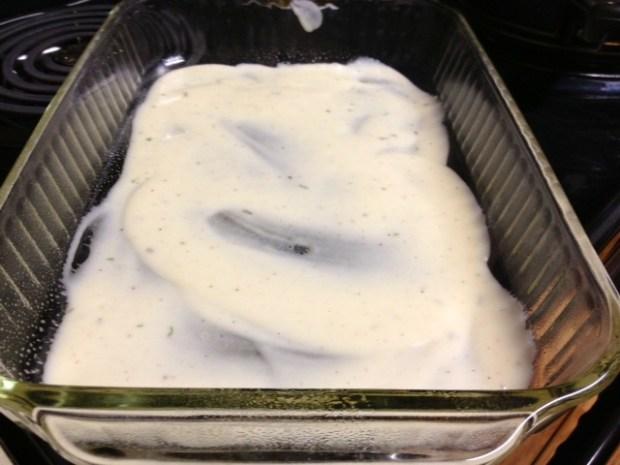 rosemary chicken lasagna bechamel layer one