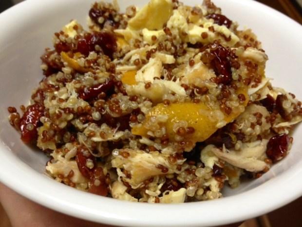 sweet savory quinoa finished