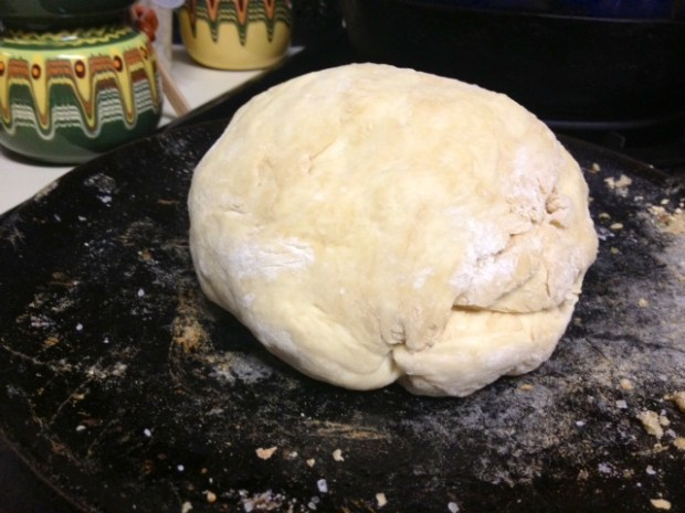 amish bread dough kneaded shaped