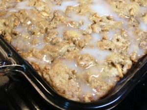 honey apple cake finished