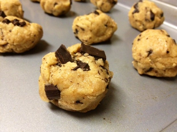 whole wheat dark chocolate cookies dough balls
