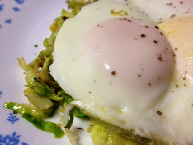 basted eggs with brussels sprouts3