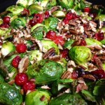 Roasted Brussels Sprouts with Cranberries & Gorgonzola