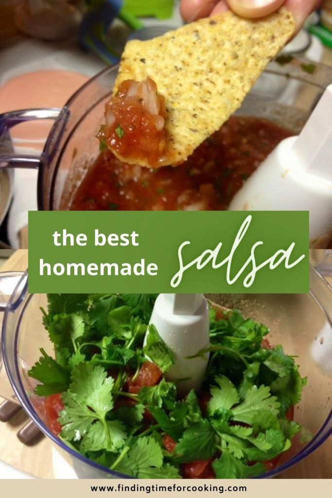 Best, Easy Homemade Salsa | This fresh salsa recipe is my family's favorite, and gets devoured at every gathering.  It only takes a few ingredients that are easy to find, and is a total crowd-pleaser.  A perfect dip for a party! #salsa #freshsalsa