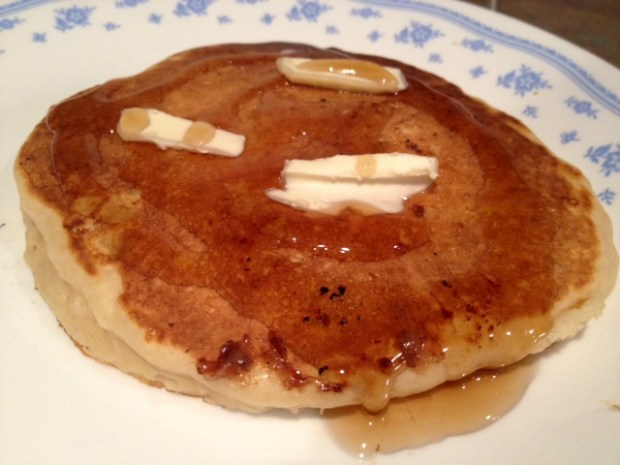banana bourbon pancakes finished