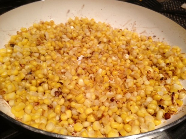 creamy charred corn & leek fettuccine corn charred