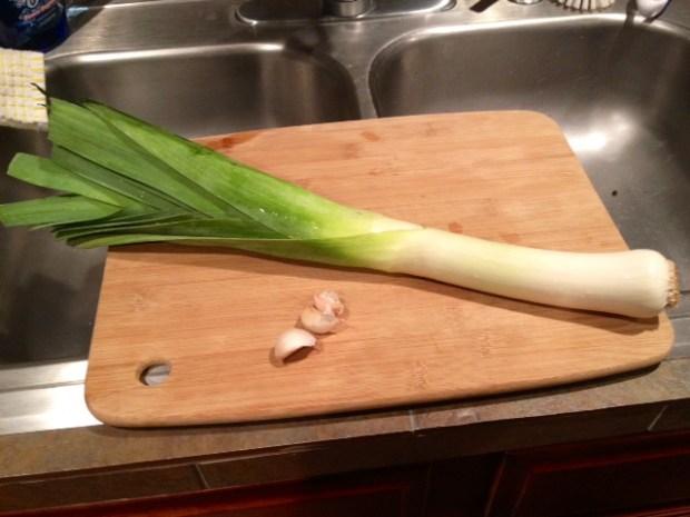 creamy charred corn & leek fettuccine leek garlic