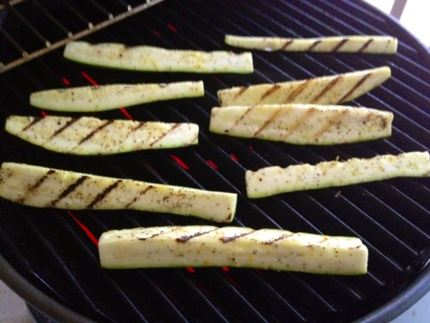 grilled zucchini with lemon salt grilling