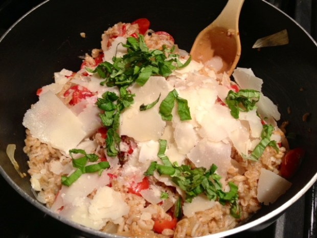 one-pot farro cooked