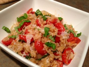 One-Pot Farro with Tomatoes & Basil