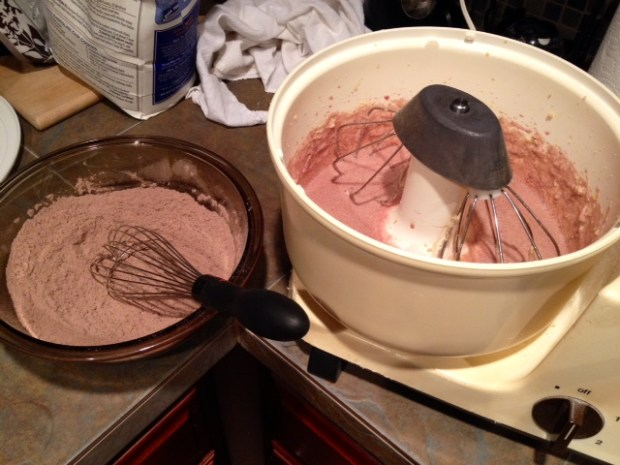 red wine chocolate cake batter dry ingredients