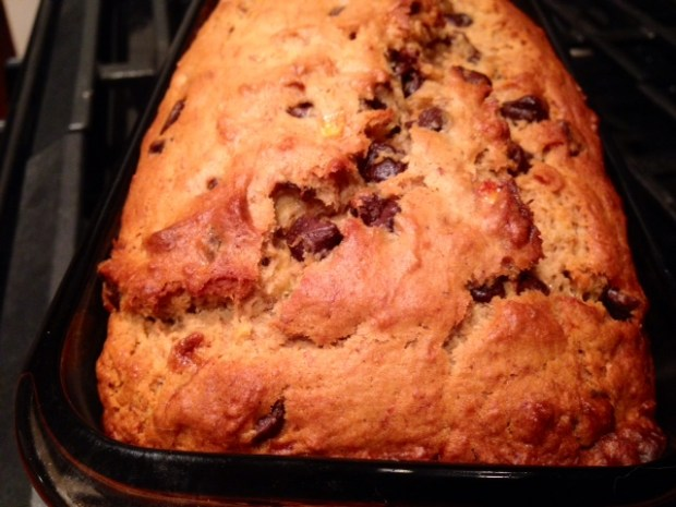 Chocolate Chip Banana Bread baked