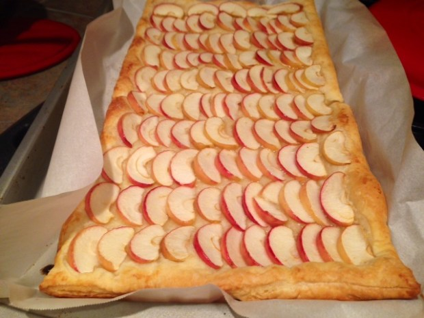 honey apple tart baked