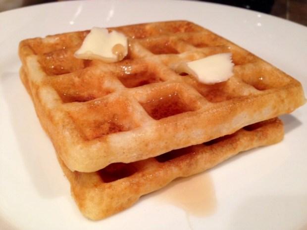 Overnight Raised Yeast Waffles finished