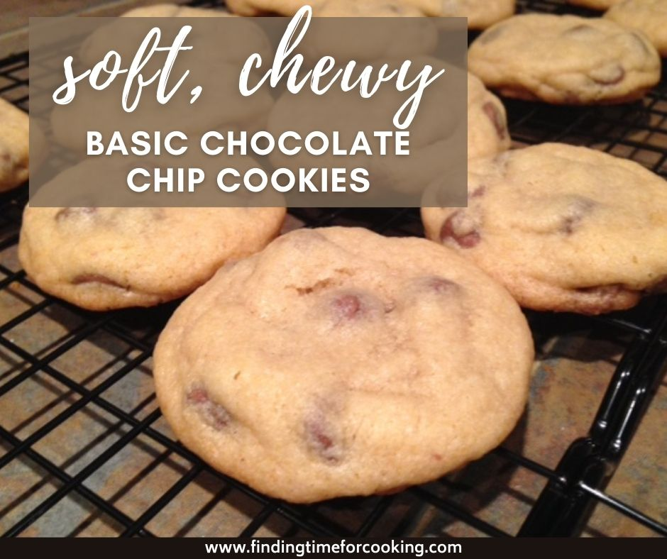 Soft, Chewy Chocolate Chip Cookies | A secret ingredient is the key to this easy cookie recipe, a very traditional chocolate chip cookie (no chilling required).  #cookies #chocolatechip #baking
