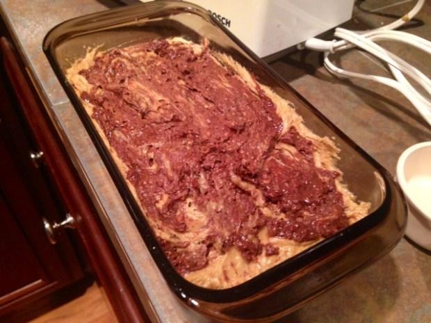 chocolate hazelnut coffee poundcake swirl