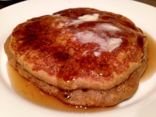 Coffee Pancakes with Syrup