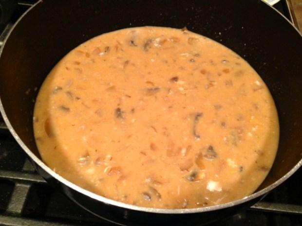 hungarian mushroom soup mushrooms combined
