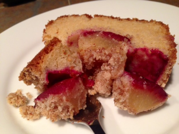 Fluffy Plum Cake with Almond Crumble finished