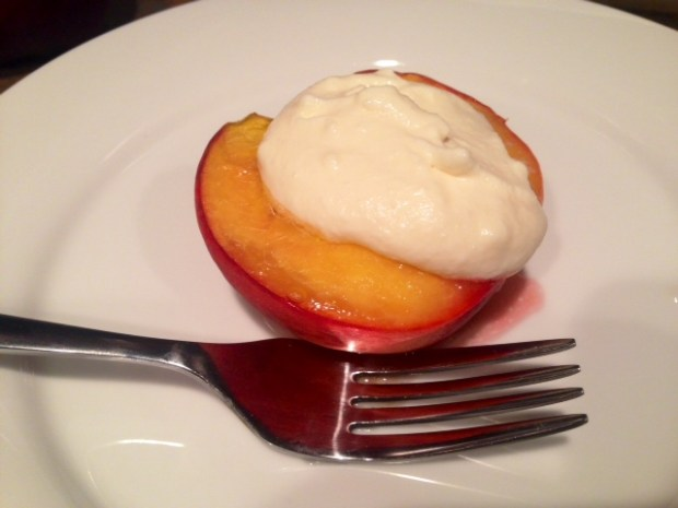 Honey Roasted Peaches with Cream done