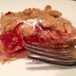 Strawberry Rhubarb Crisp Breakfast Bars