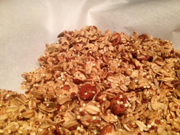 Peanut Butter Quinoa Granola done