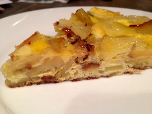 Traditional Spanish Tortilla slice