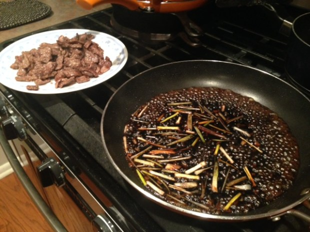 30-minute mongolian beef sauce cooking