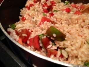 Heirloom Tomato Risotto finished
