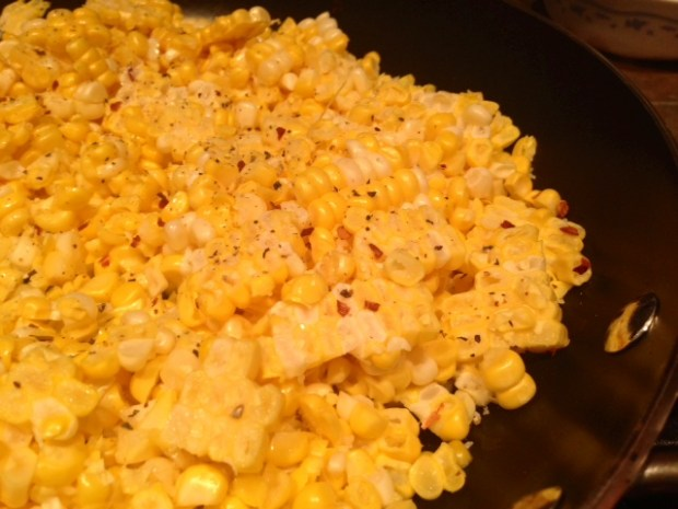 pasta with fresh sweet corn pesto corn sauteeing