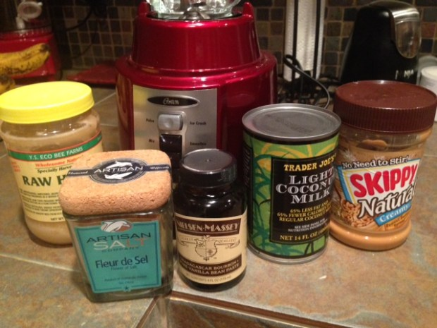 peanut butter & honey ice cream ingredients