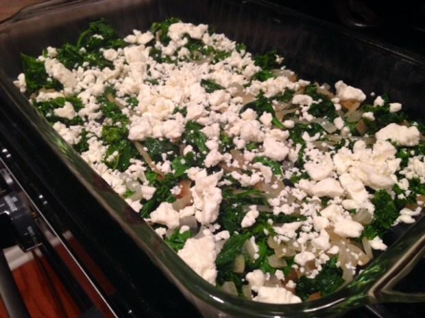 spinach kale & feta egg casserole feta2