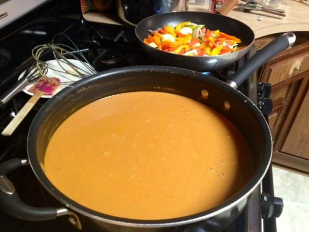 thai peanut noodles sauce cooking