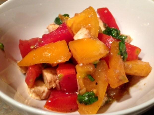 Heirloom Tomato & Mozzarella Salad done