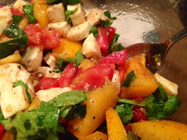 Heirloom Tomato & Mozzarella Salad finished