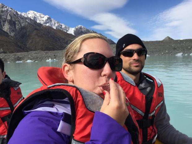 jess tasman lake ice
