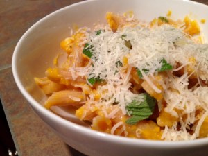Butternut Squash Leek & Parmesan Pasta done