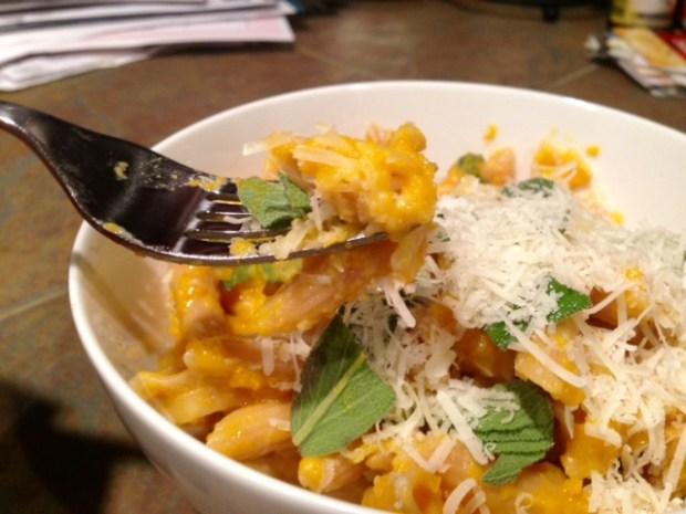 Butternut Squash Leek & Parmesan Pasta