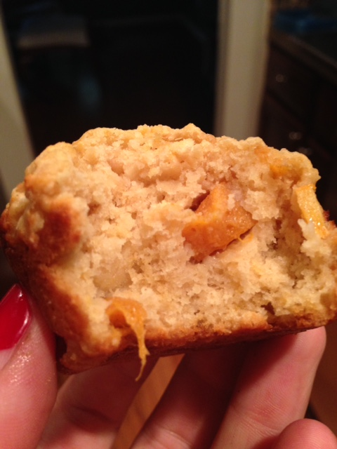 Persimmon Lemon Cardamom Muffin
