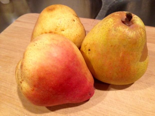 pear cake with honey glaze pears